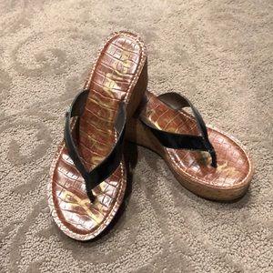 Sam Edelman flip flop wedges